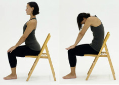 Yoga in a chair