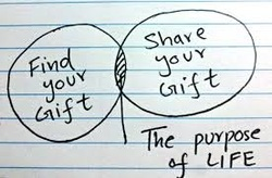 Find Your Gift - Share Your Gift = Life Purpose