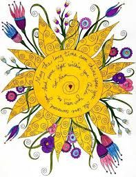 Picture of the Sun and quote: May the Long time Sun Shine Upon You All Love Surround You And the Pure Light Within You Guide Your Way On