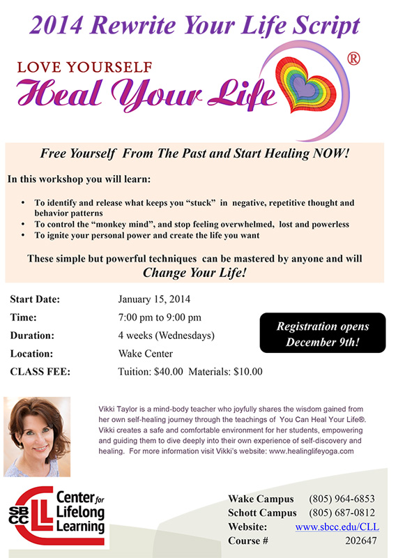 SBCC Heal Your Life Workshop Flyer